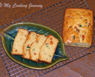Fruit Cake – Egg less Loaf Cake