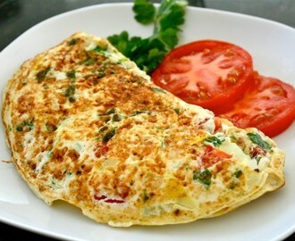 Omelete Light com Berinjela