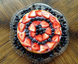 {recipe} crustless goat cheese cheesecake with mixed berries