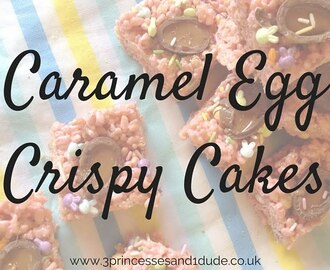 Cooking With Kids. Caramel Egg Crispy Cakes