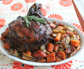 Slow-Cooked Lamb Shoulder with Roasted Vegetables #SundaySupper