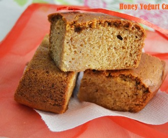Honey Yogurt Cake - My 13th guest post for Shaain's Cooknotes