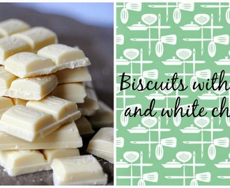Biscotti cocco e cioccolato bianco / Biscuits with coconut and white chocolate