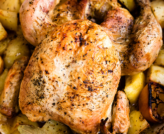 One-pot Greek Oven–Roasted Chicken and Potatoes
