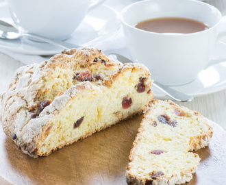 Marzipan, Cherry & Orange Blossom Sweet Soda Bread