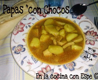"""PAPAS"" CON CHOCOS (THERMOMIX)"