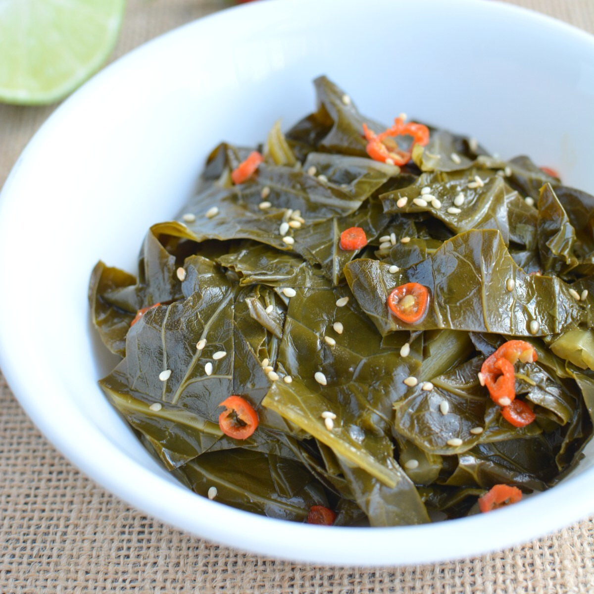 Chili Lime Collard Greens