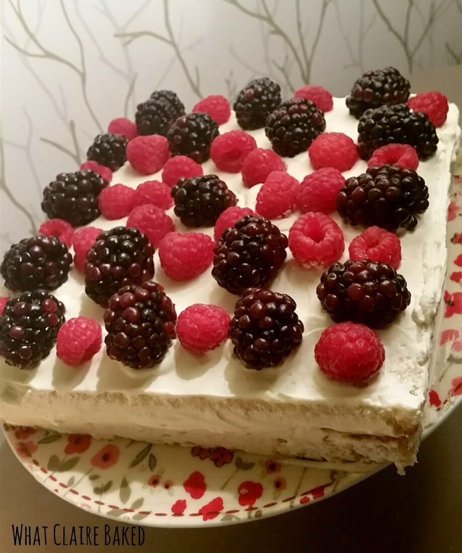 Gluten Free Lemon, Raspberry and Blackberry Cake