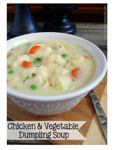 Chicken & Vegetable Dumpling Soup