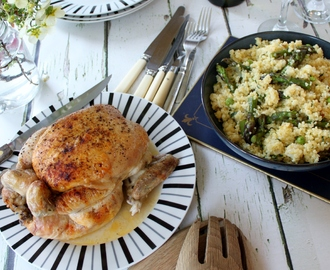 Recipe: Roast Chicken with Spring Vegetable & Bulgur Salad