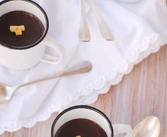 Natillas de chocolate sin lactosa y con thermomix