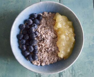 Gluten and Dairy Free Apple and Blueberry Bircher