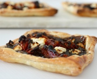 Simple Caramelised Onion and Feta Tarts