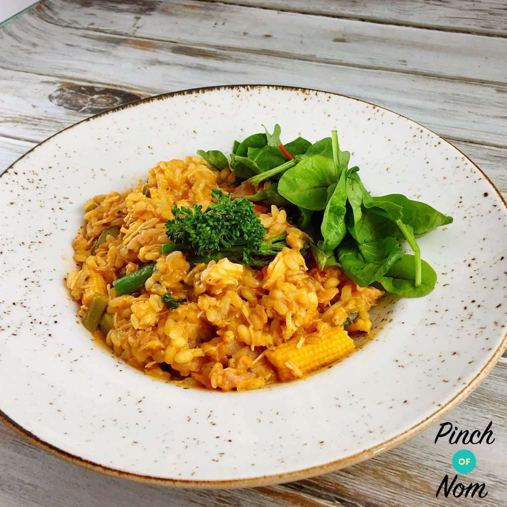 Low Syn Tomato, Bacon, Sausage & Mushroom Risotto | Slimming World