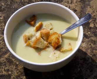 Celery Soup with Stilton and Croutons
