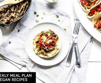 Weekly meal plan: vegan recipes