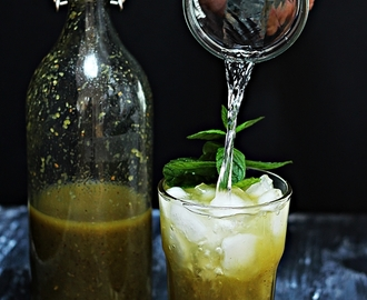 Roasted Kiwi Palm Soda Panna #summerdrink #indianstylebeverage #panna