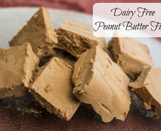 Dairy Free Peanut Butter Fudge #SwearByIt