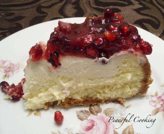 Pomegranate Cheesecake and a Willow House Giveaway