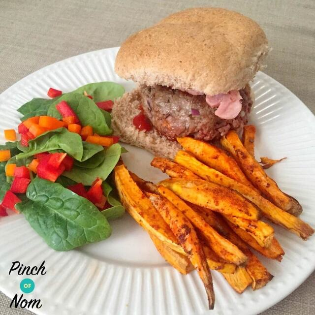 Syn Free Melt-in-the-middle Bacon Cheese Burgers | Slimming World