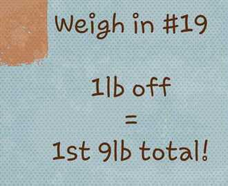 Slimming World weigh in #19 - the repeat of last week...