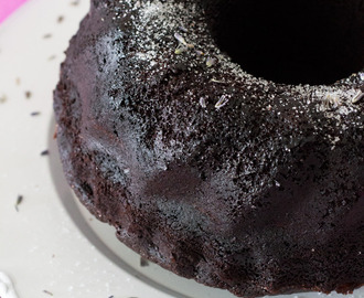 Chocolate and lavender bundt cake #BundtBakers