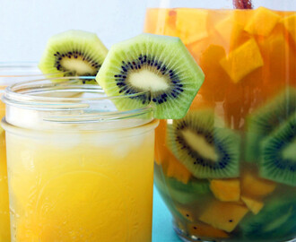 This Tropical Sangria Is What's Up For The Weekend Pool Party