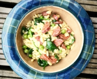 Orzo Risotto with Chorizo - Carnivore Club Review & Giveaway