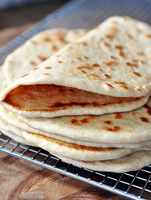 Homemade Flatbread {Greek Pocketless Pitas with a Simple Tutorial}