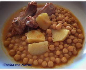 Garbanzos con costillas en Olla GM