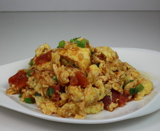 Egg Tomato Stir Fry-Simple Version