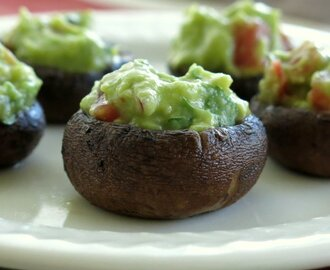 Guacamole Stuffed Mushrooms
