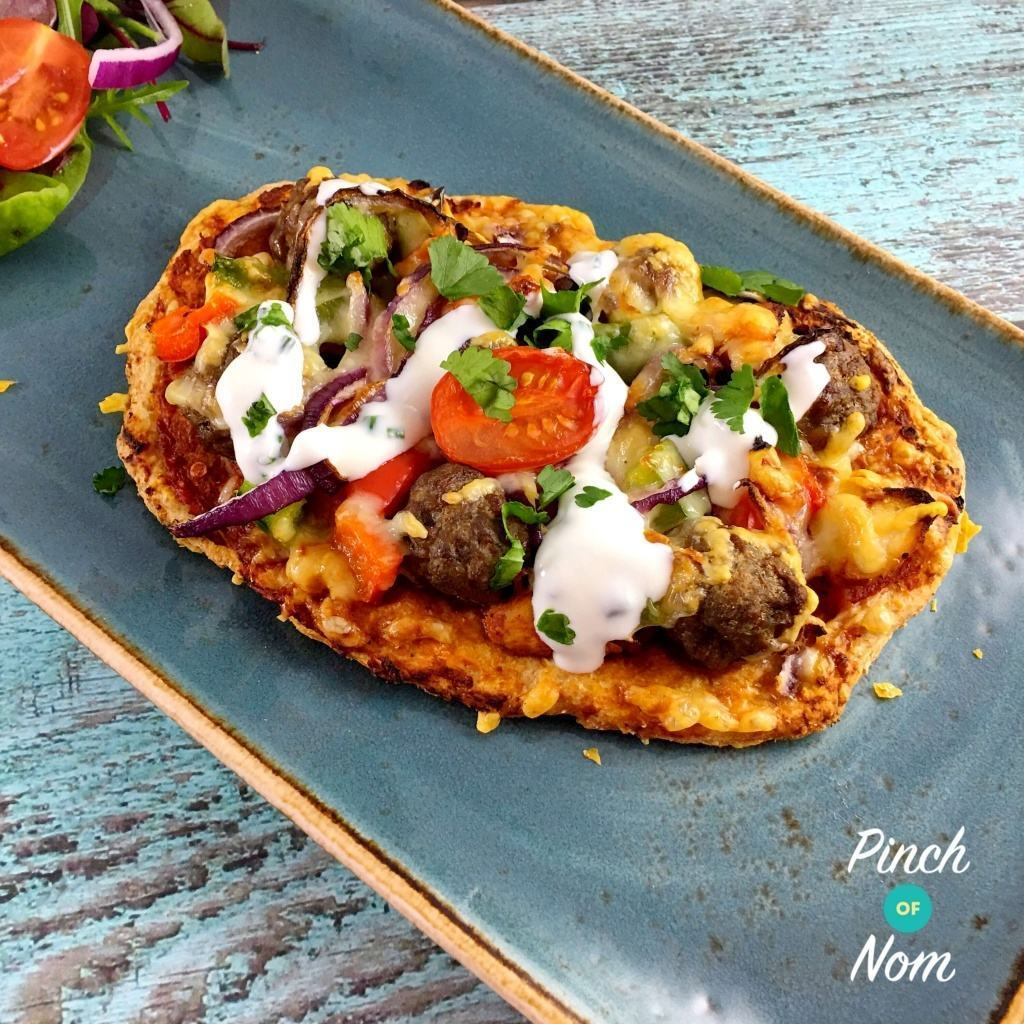Syn Free Mexican Chipotle Meatball Pizza | Slimming World