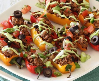 Paleo Mini Taco Nacho Party Peppers
