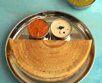 Crisp n Lace Kambu Dosai Version II | Pearl Millet Dosa with Unusual Chutneys | Mixie Version