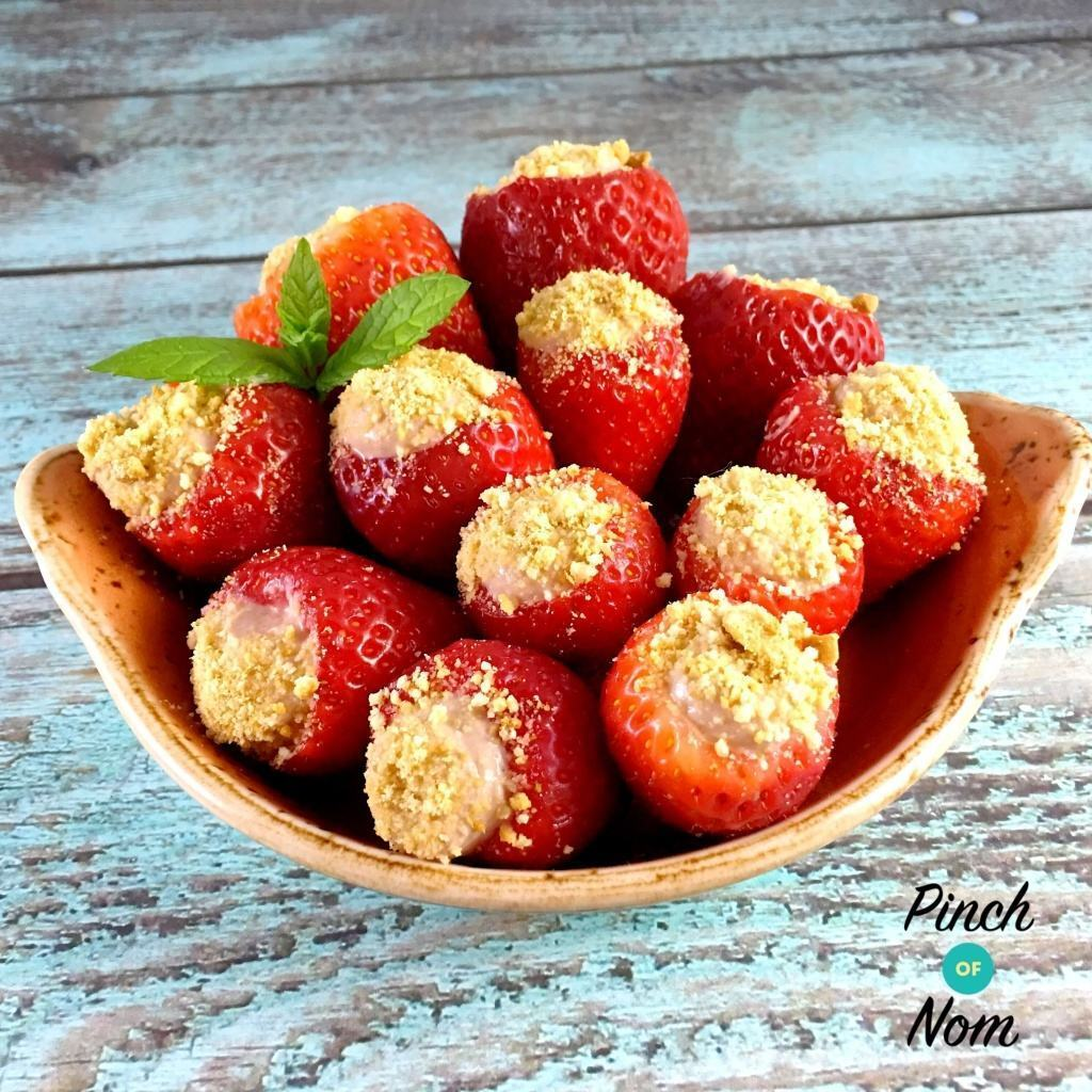 Low Syn Chocolate Cheesecake Stuffed Strawberries | Slimming World