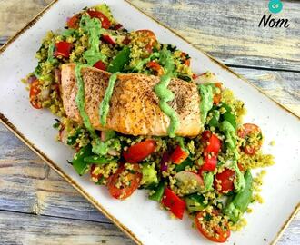 Syn Free Allspice Dusted Salmon, Tabbouleh Salad with a Basil & Yogurt Dressing | Slimming World