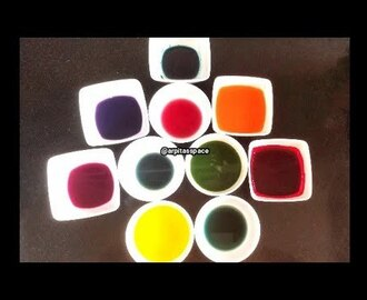 How to Make Natural Food Colours | Natural easy homemade food colours recipe | Arpita's Space