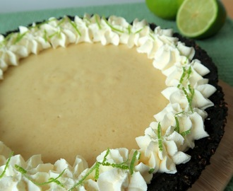 Key Lime Pie with Coconut Oreo Crust