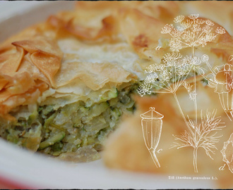 """River Cottage Veg Everyday"" - Courgette and Filo Rice Pie"