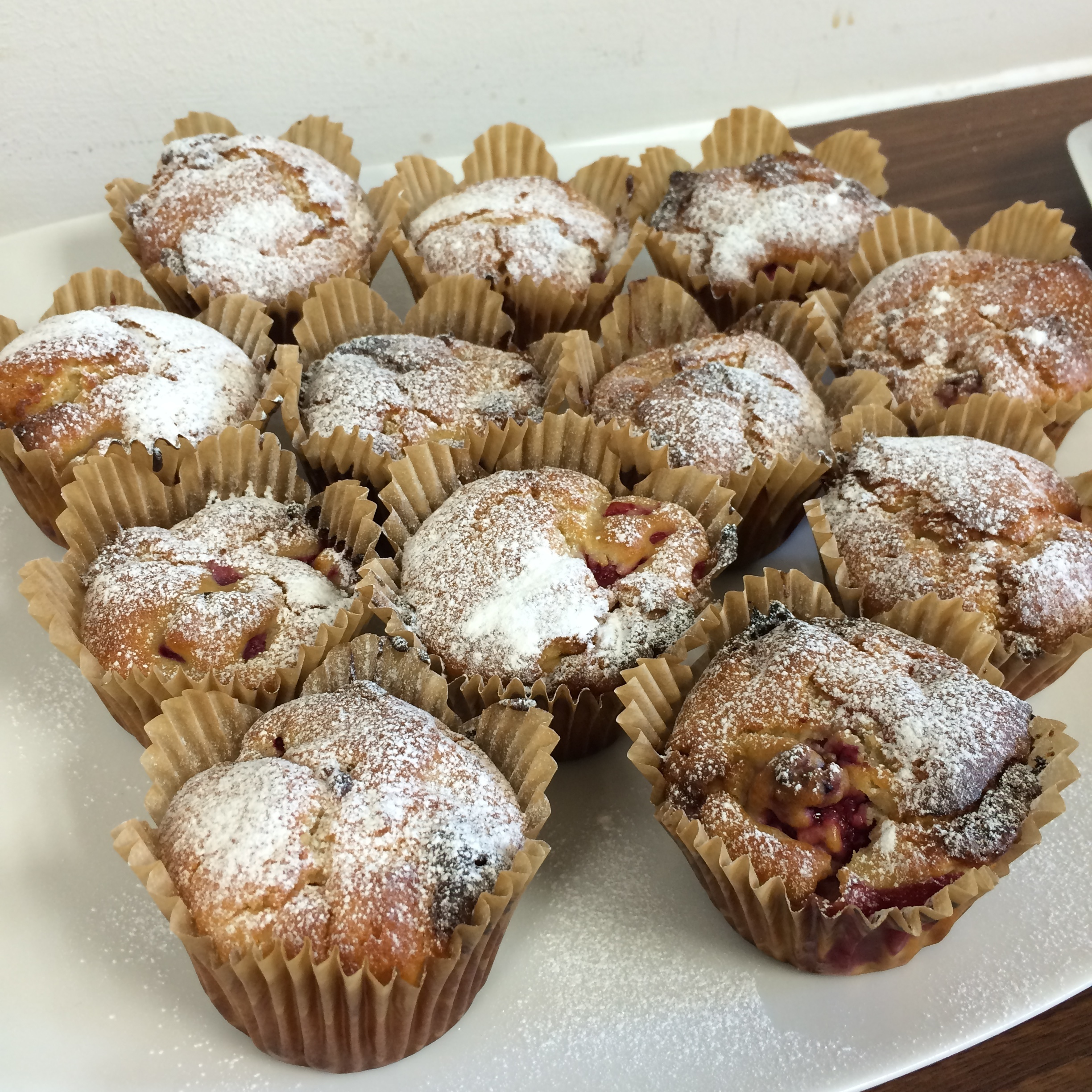 Easy raspberry and white chocolate muffins