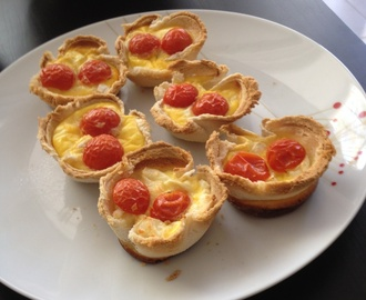 Mini quiches tomates chèvre
