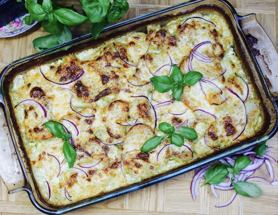 Cheesy Pesto Dauphinoise