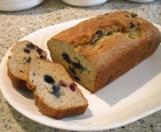 My Banana Almond Tea Bread with Blueberries (or not)