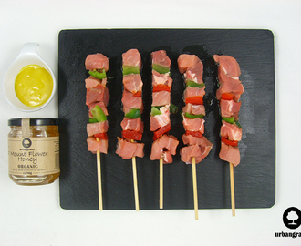 Roast These Delicious Honey Mustard Pork Skewers This Summer
