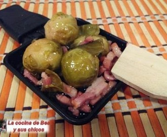 Coles de Bruselas escabechadas con bacon
