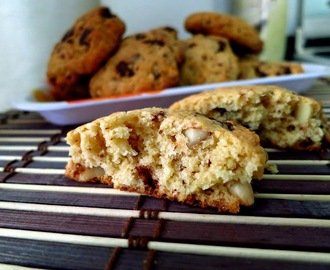 Cookies al Cocco, Cioccolato e Mandorle (Chocolate Coconut Cookies)