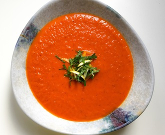 Chargrilled Red Pepper and Chilli Soup