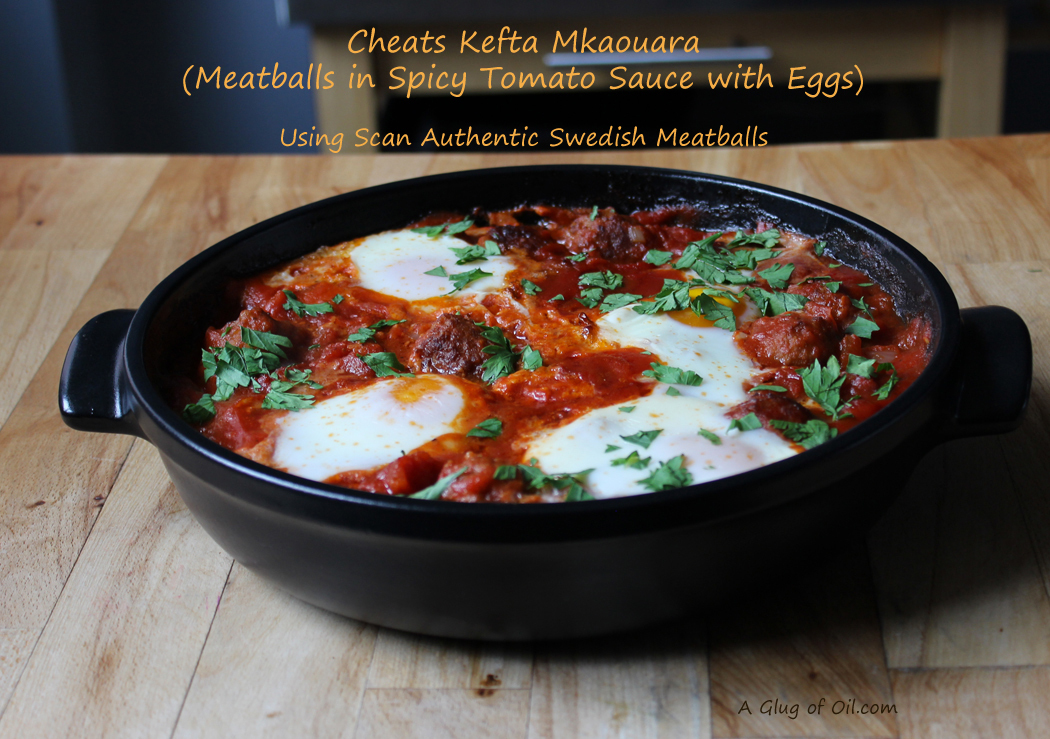 Cheats Kefta Mkaouara - Meatballs in Spicy Tomato Sauce with Eggs