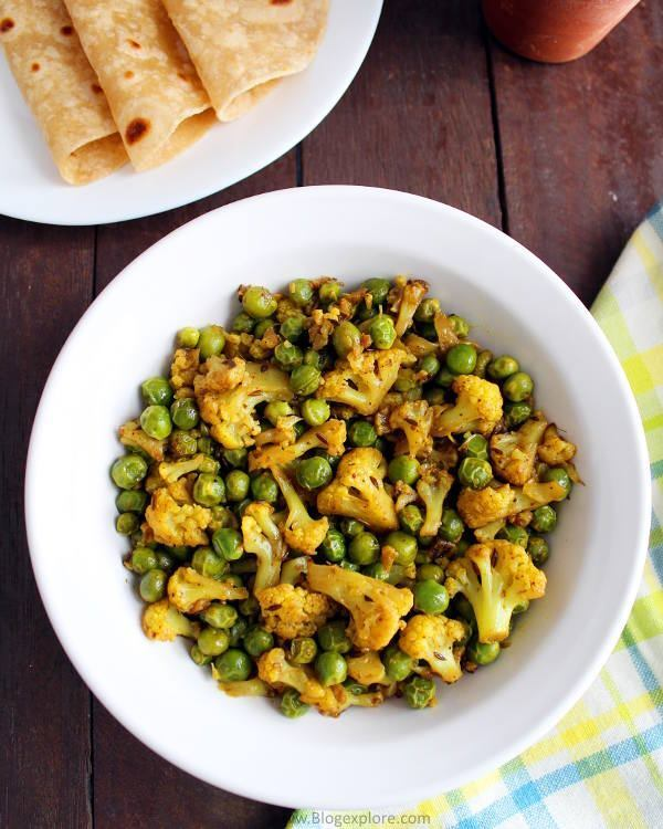 Gobi Matar Recipe | Cauliflower Peas Dry Curry